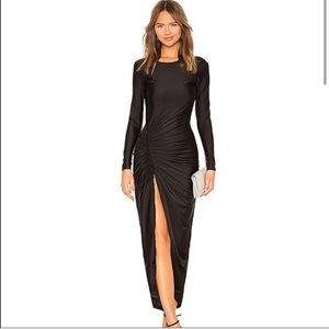 Superdown Black dress - NWT Slit Backless revolve